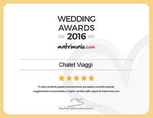 premio wedding awards 2016 Chalet Viaggi